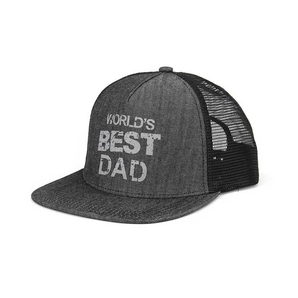 World's Best Dad Flat Bill Cap