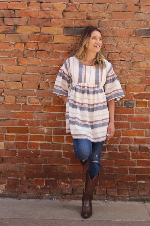 True Patriot Babydoll Tunic