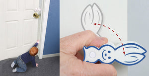 Door Bunny Our Newest Child Safety Product for Doors Door Bunny Door Finger Guards Protect Small Fingers