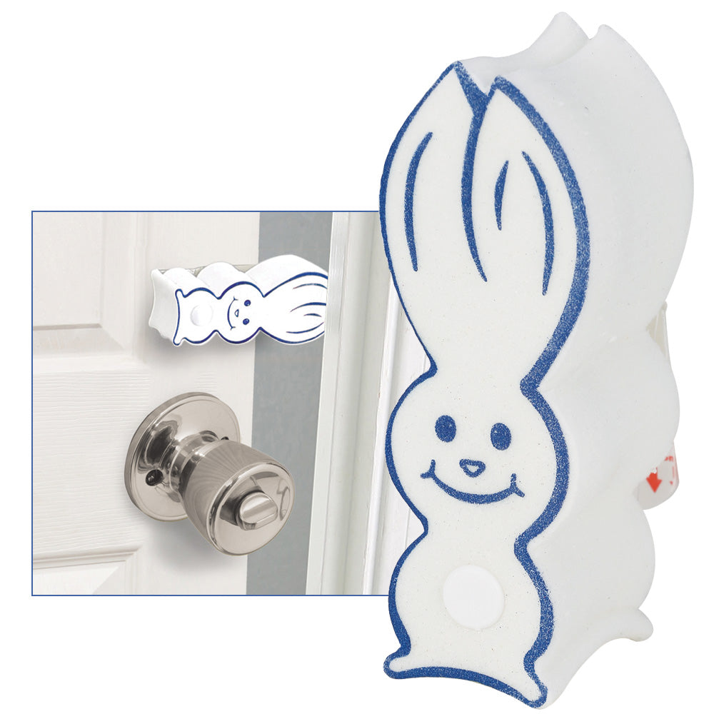 2 Pk Pinch-Not Door Bunny Finger Safety Guard Bumper Stop. Flips On/Off. By Carlsbad Safety Products