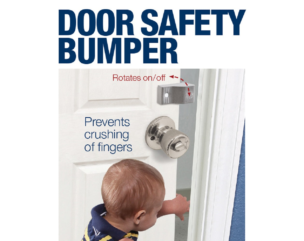 1 Pk Pinch-Not Door Finger Safety Guard Slip-on Foam Bumper Stop. Flips On/Off. By Carlsbad Safety Products