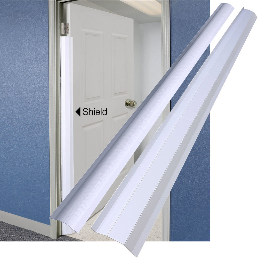 Pinch-Not Home Shield for 90 Degree Doors (Set) - Guard for Door Finger Child Safety. By Carlsbad Safety Products
