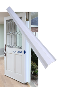 Pinch-Not Home Shield for 180 Degree Doors - Guard for Door Finger Child Safety. By Carlsbad Safety Products