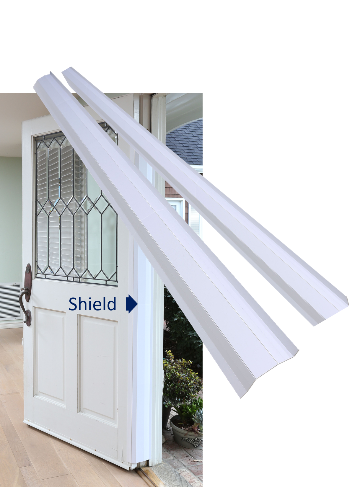 Pinch-Not Home Shield for 180 Degree Doors (Set) - Guard for Door Finger Child Safety. By Carlsbad Safety Products