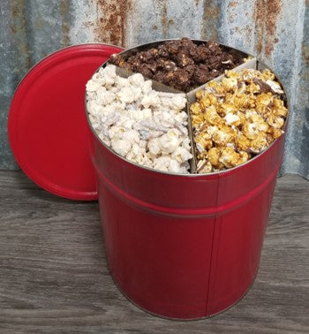 Chocolate Lovers Tin (3.5 Gal.) - Includes 3 favorite chocolate flavors - Dark Chocolate Sea Salt, Chocolate Covered Strawberries & Turtle.