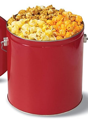Classic Lovers- Tin (1 Gal.) - Includes the top 3 classic favorites - Extra Buttery, Cheddar Cheese & Caramel.