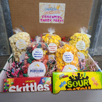 Back To School Snack Pack - Essential for any online student in this crazy year! You select five popcorn flavors and we select two boxed candies! Price includes shipping to any front door in the continental U.S.