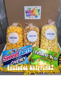 Birthday Pack - You select three popcorn flavors and we select two boxed candies! Price includes shipping to any front door in the continental U.S.