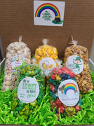 Happy St. Patrick's Day Box - Includes 5 mini bags of our March flavors including Shamrock Vanilla, Beer Cheese, Irish Cream Caramel, Over The Rainbow (Fiesta), & Lucky Charms. Price includes shipping to any front door in the continental U.S.