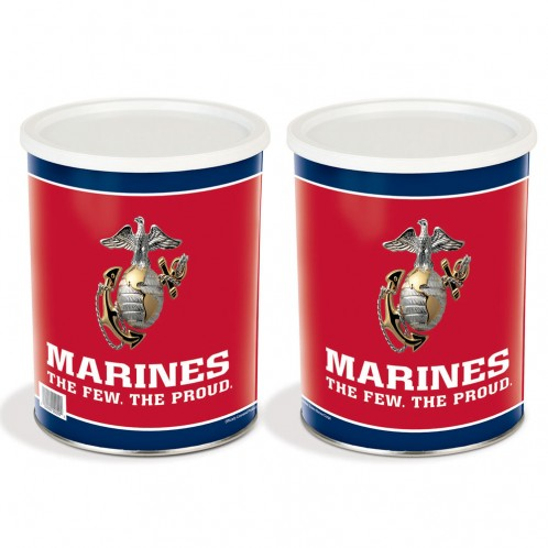 Military Tin - Marines Tin - 1 Gallon