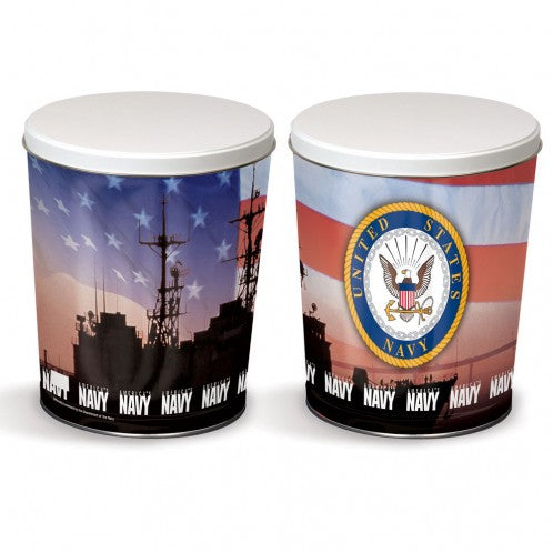 Military Tin - Navy Tin - 3 Gallon