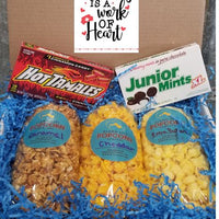 Nurse Appreciation Box - You select three popcorn flavors and we select two boxed candies! Price includes shipping to any front door in the continental U.S.