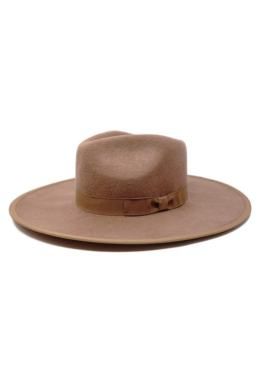 RESTOCK - Billie Wide Brim Hat in Brown