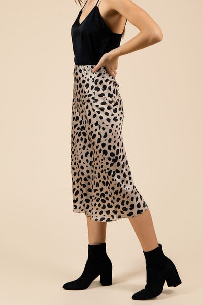 Brin Leopard Spotted Skirt