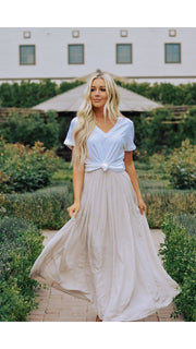 Prim Maxi Skirt in Champagne