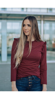 Camilla Top in Wine