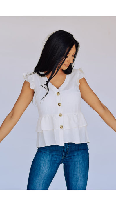 Carissa Top in Ivory