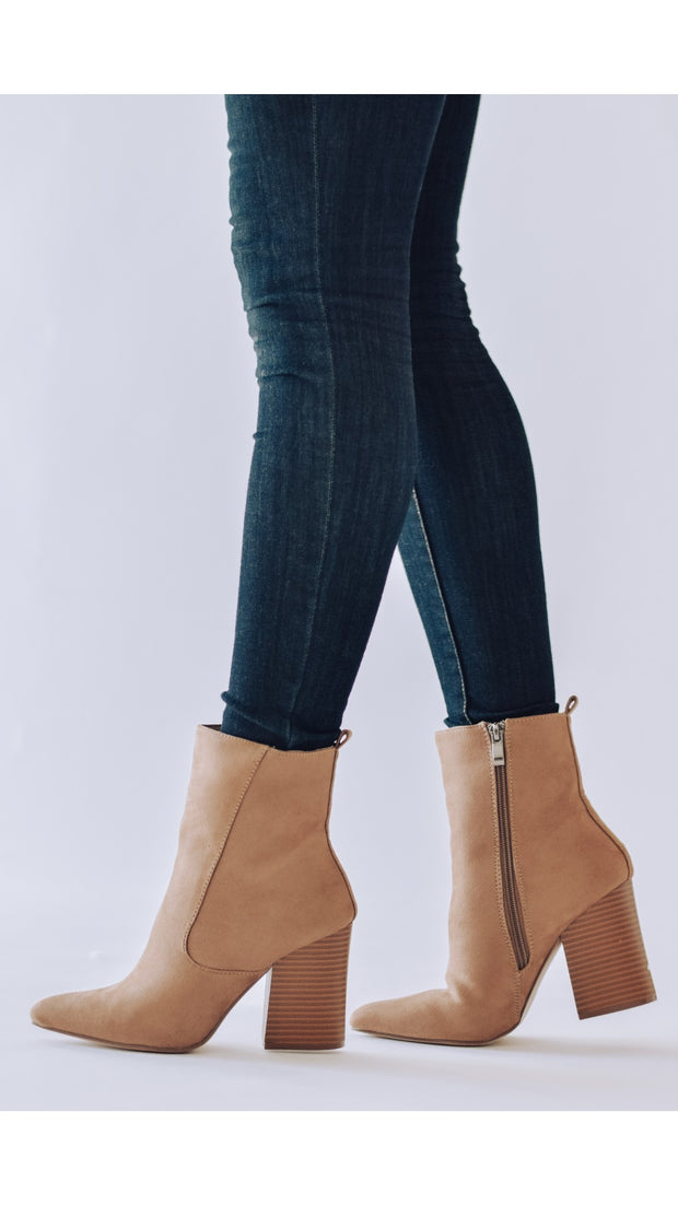 Charleston Faux Suede Pointed Bootie