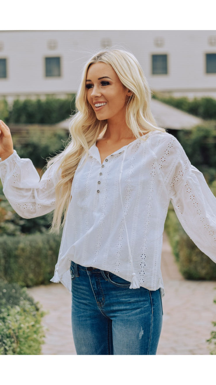 Mindy Eyelet Top