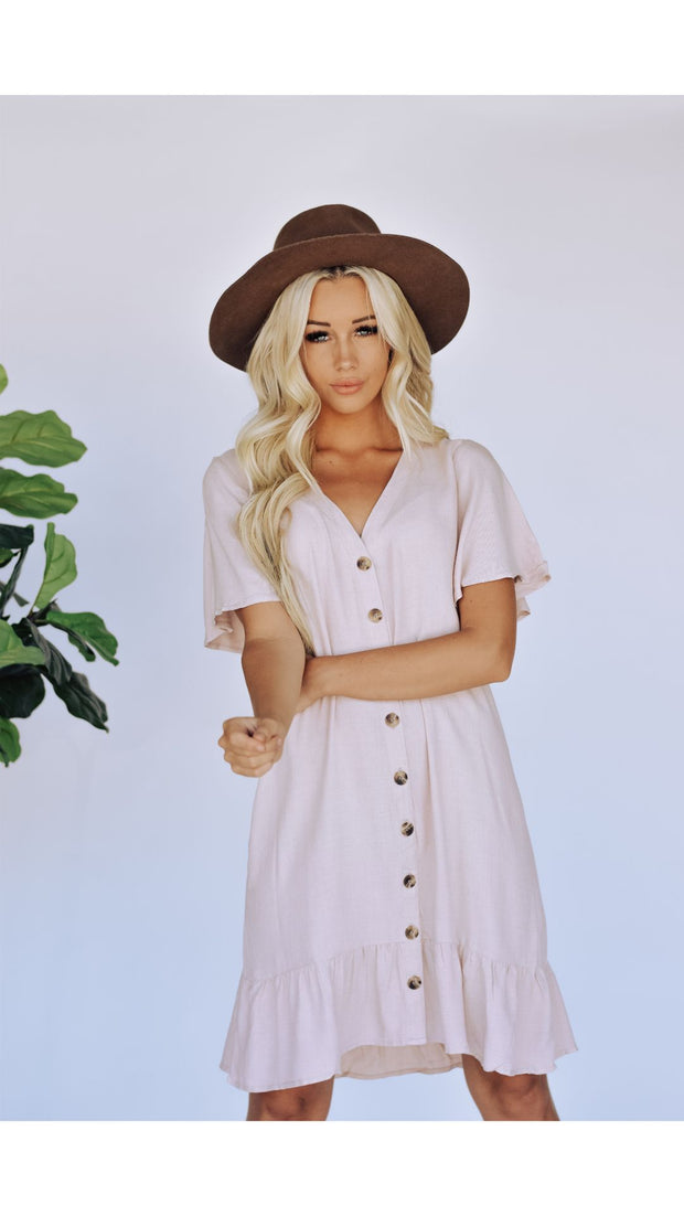 Francine Dress in Blush