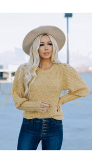 London Sweater in Gold