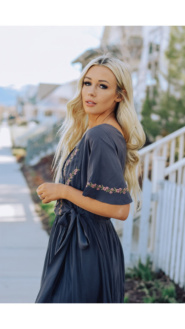 Bianca Embroidered Dress