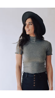 Quin Top in Charcoal