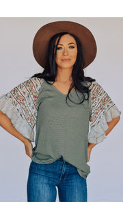 Marie Top in Sage