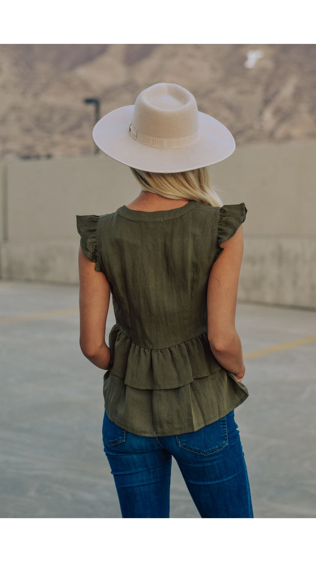 Carissa Top in Olive