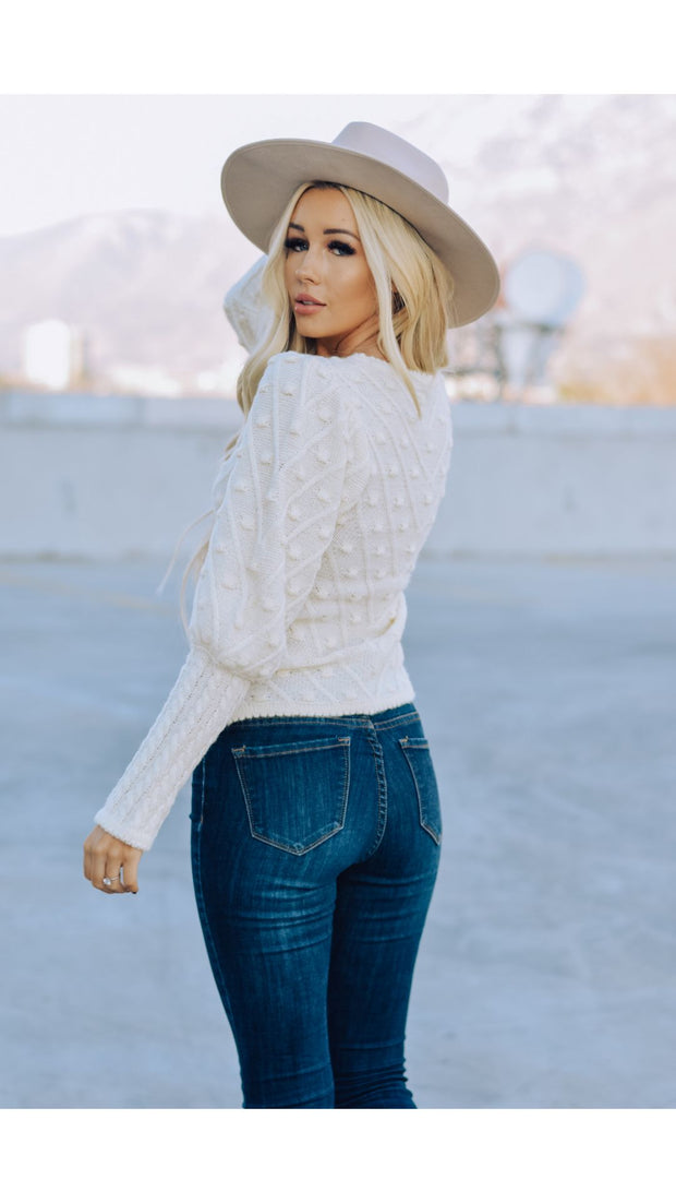 London Sweater in Ivory