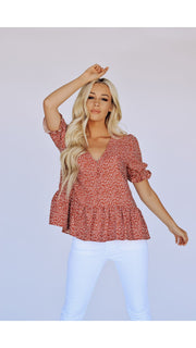 Fiona Peplum Top