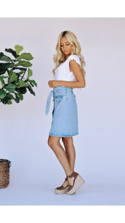 Zuri Denim Skirt