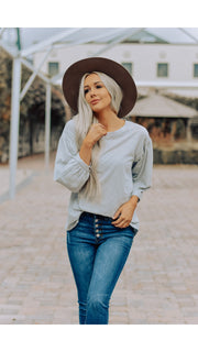 Stella Top 3/4 Sleeve in Dove