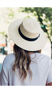 South Beach Straw Boater Hat