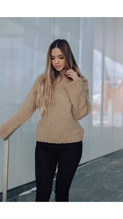 Theo Turtleneck Sweater in Mocha