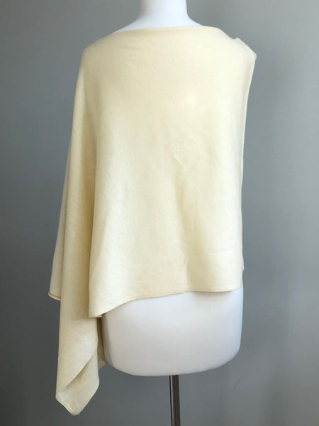 Nealy Poncho Buttery Ivory