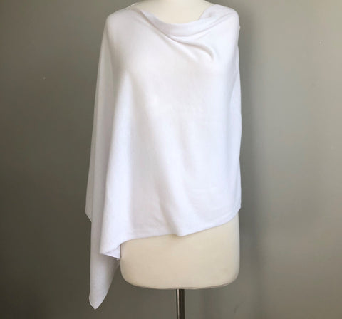 Resort Poncho in White