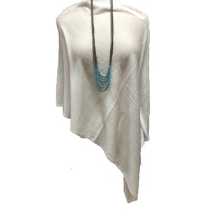 Nealy Poncho in Light Beige