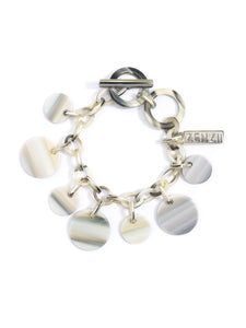 Margot Toggle Bracelet in Beige