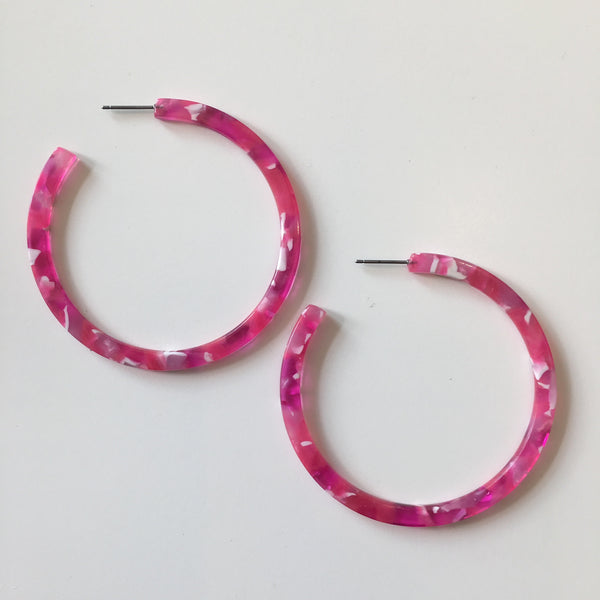 Pamela Hoops in Fuchsia