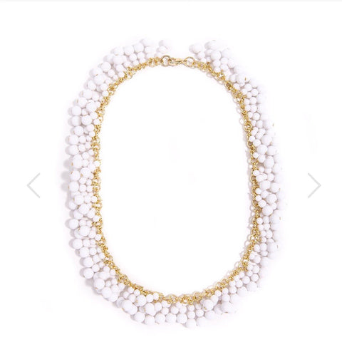 Kara Necklace in White