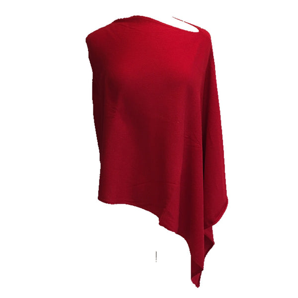 Nealy Poncho Deep Red