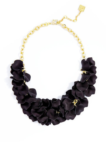 Pippa Petal Necklace Black