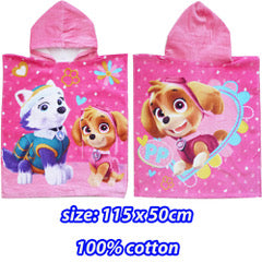 Hooded towel PAW PATROL SKYE