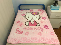 Hello Kitty Throw Size Faux Mink Blanket