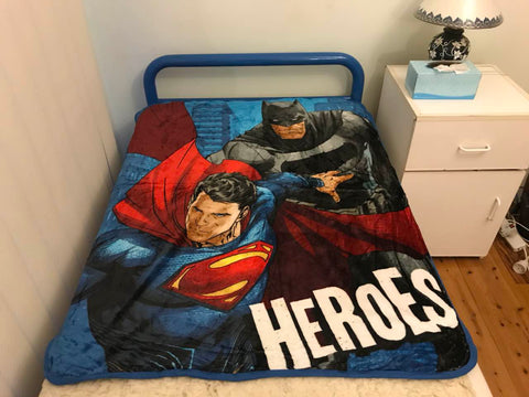 Batman vs superman Throw Size Faux Mink Blanket
