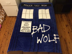 PRE ORDER Dr Who Throw Size Faux Mink Blanket