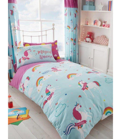 Unicorn Fairy Tale Single Quilt Cover Set