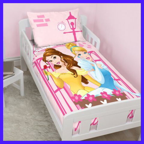 PRINCESS - Toddler Bed/Cot Quilt Cover Set