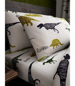 PRE ORDER DINOSAUR Single fitted sheet & Pillowcase